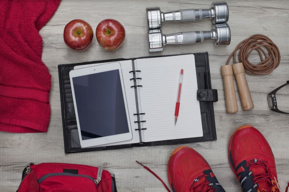 At home fitness planner