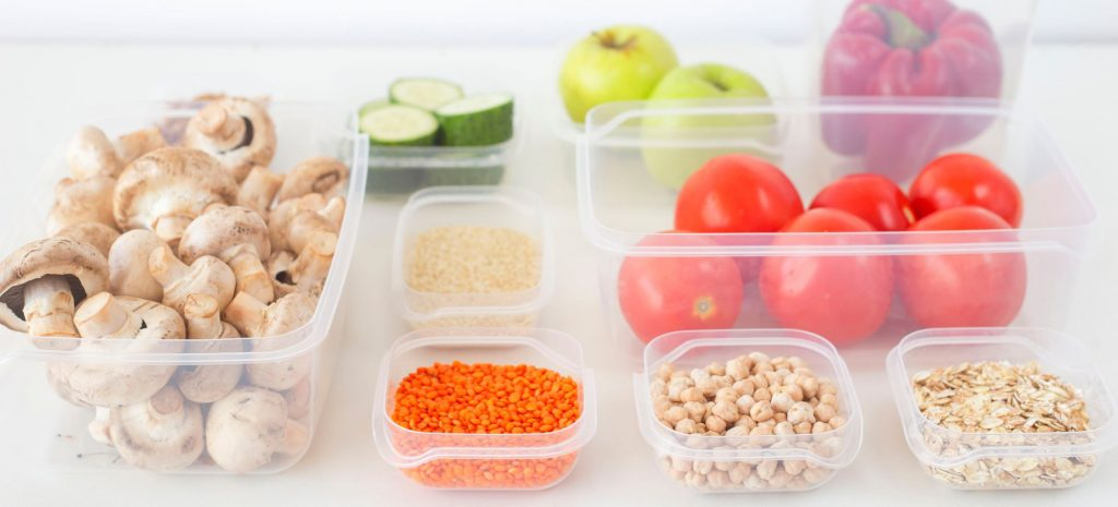 Kitchen organisation food containers