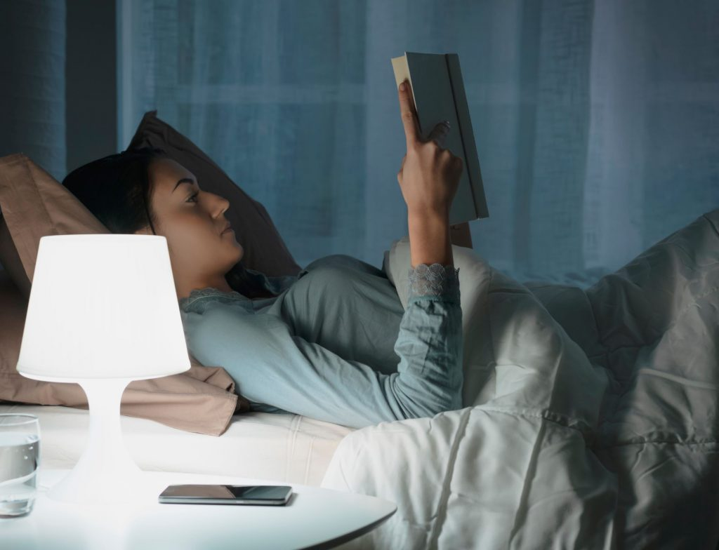 Reading a book to help you sleep better